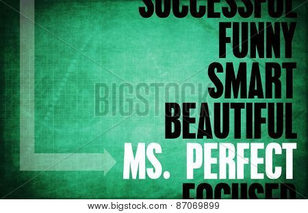 Ms. Perfect Finding the Best Match for Life background