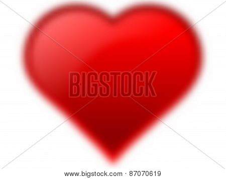Blurry Red Heart