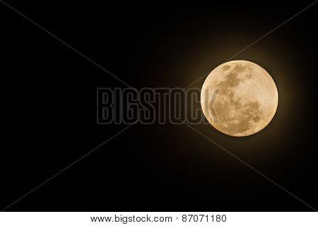 Full Moon On Dark Sk