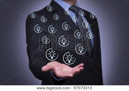 Idea on Businessman Hand