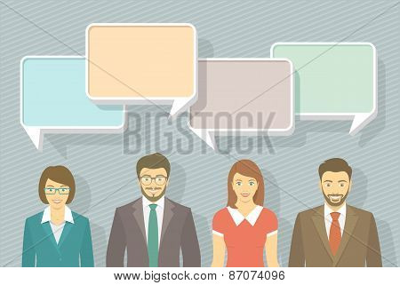 Business Team Infographics Elements