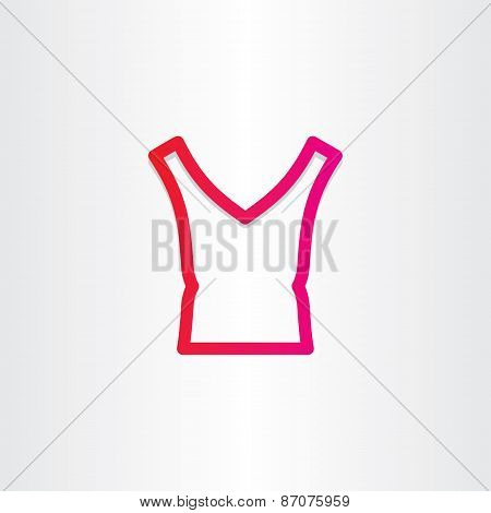 Female Blouse Icon Design