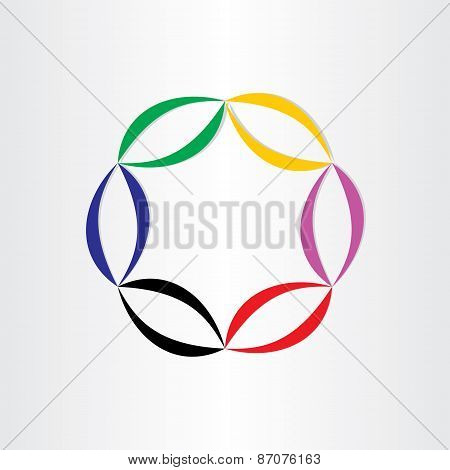 Color Abstract Background Circle Frame