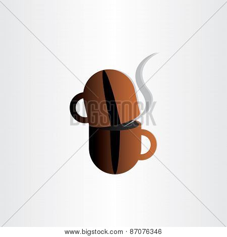 Coffee Cup Grain Concept Stylized Icon