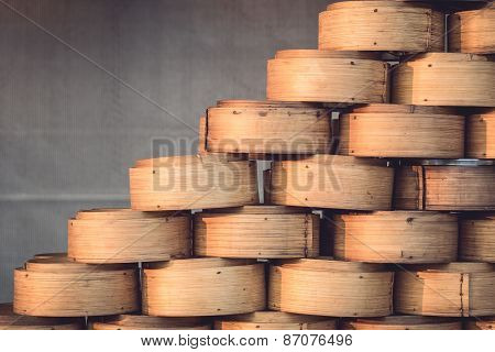 Chinese Bamboo Steamer For Steaming Chinese Food