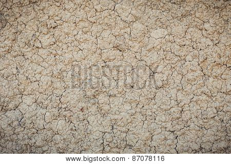 Texture Of Crack Clay Wall