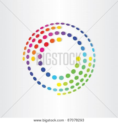Abstract Color Background With Circles And Ellipses