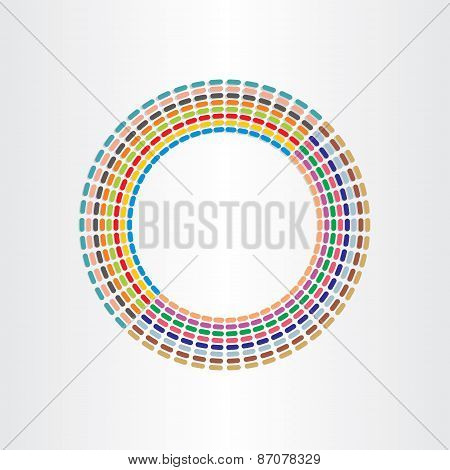 Color Circle Abstract Background Design With Lines