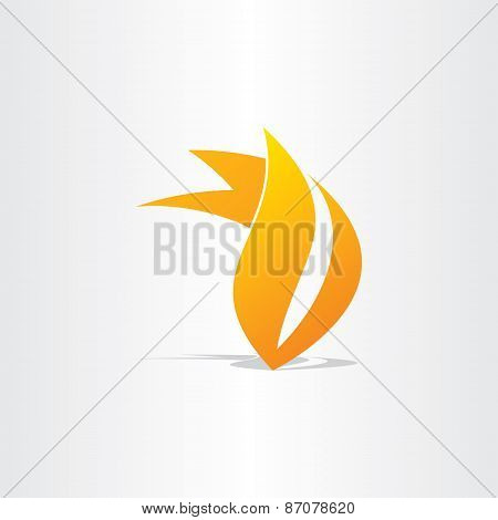 Fire Burn Symbol Design