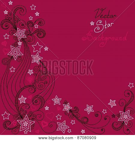 vector red star pattern