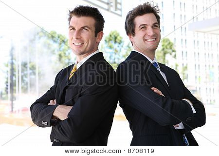 Handsome Man Business Team