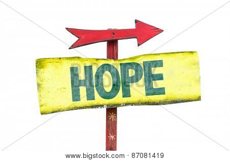 Hope sign isolated on white