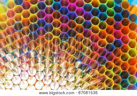 Colorful Straw For Background