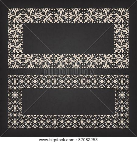 Decorative frame. Vector illustration.