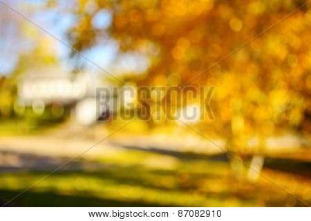 Autumn landscape blurred background