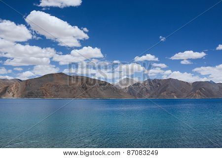 Pangong Lake , The Highest Salt Water Lake