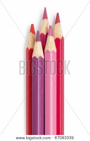 Pencil Color Fuchsia Red Pink