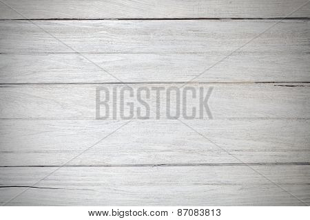 Texture White Vintage Teak Wood White Background Vignette