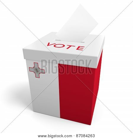 Malta election ballot box for collecting votes