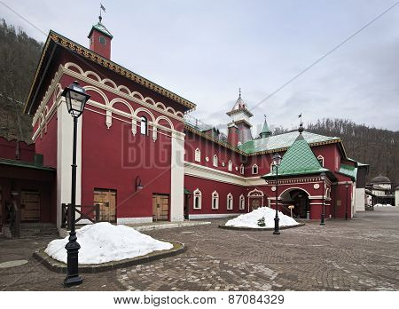 Historic architecture of Moscow. Cultural and ethnographic center My Russia.