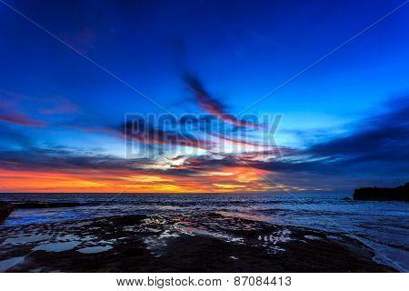 Dramatic Sunset In Bali