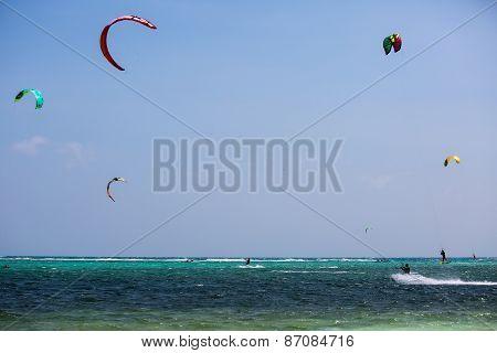 Kitesurfers On A Boracay