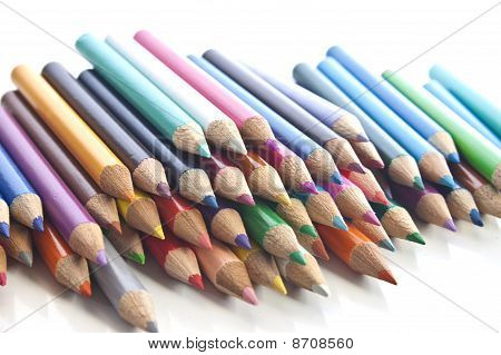 Colouring Pencils All Stacked Up