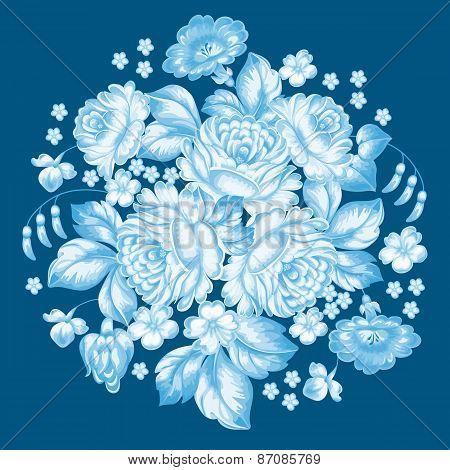 Russian Zhostovo Floral Ornament