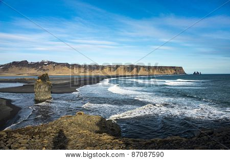 sea-cliffs of Dyrholaey, southern coast of Iceland