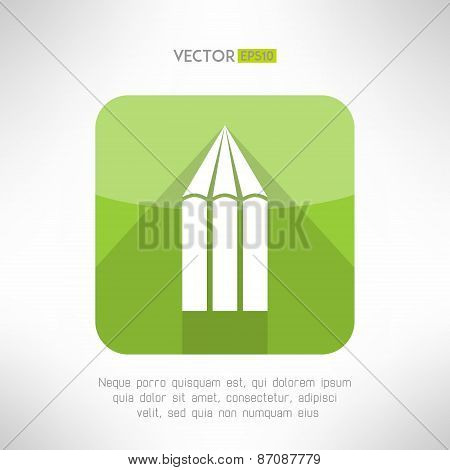 Pencil icon made in modern flat design. Creativity concept symbol. Vector illustration