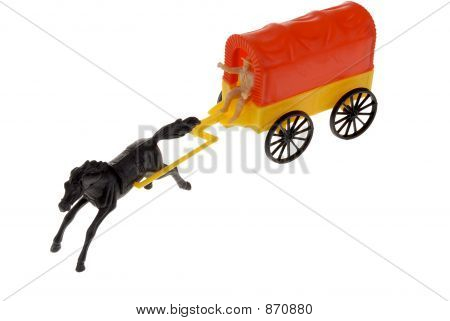 Toy Frontier Covered Wagon