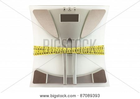 Scale With A Measuring Tape