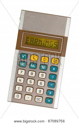 Old Calculator - Earnings