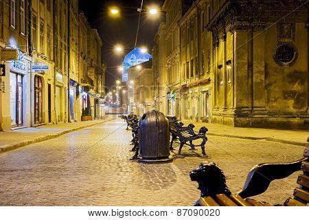 Old Town In Lviv, Ukraine.