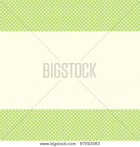 Green Template Of Greeting Card