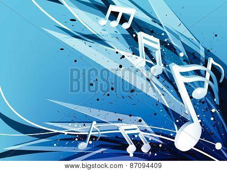 Blue Music Design Background