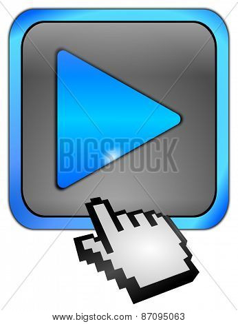 Play Button with Cursor