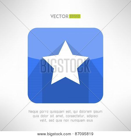 Star icon made in simple and clean modern flat design. Rating and favorite web element. Victory conc