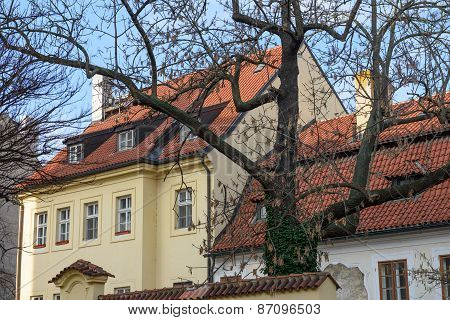 Buildings On Corner Of Hastal Square And Anezska Street, Prague.