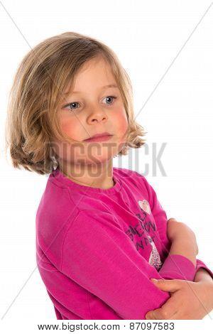 Nice Girl In Pink Shirt