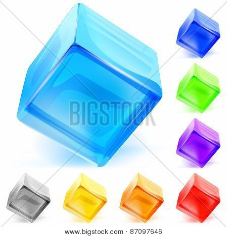 Opaque Glass Cubes