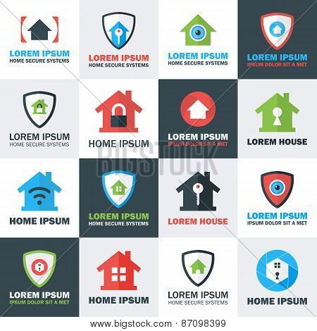 Home Security Logos Set