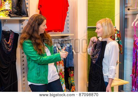 Two Woman In The Clothes Shop