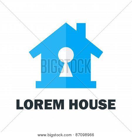 House With Key Hole Logo