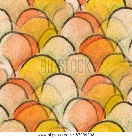 seamless yellow, white, orange tubercles texture background wall