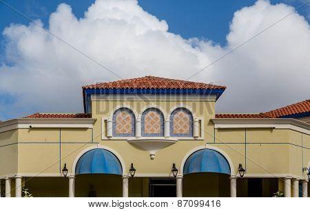 Colorful Stucco Building In Aruba