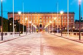 pic of royal palace  - Scenic summer evening view of Royal Palace in the Old Town  - JPG