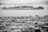 foto of alcatraz  - Alcatraz Island and its prison sits in San Francisco bay - JPG