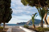 stock photo of costa blanca  - View from the top of Altea old town - JPG