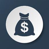 picture of million-dollar  - Money bag icon - JPG